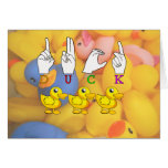 DUCK ASL FINGERSPELLED SIGN GREETING CARDS