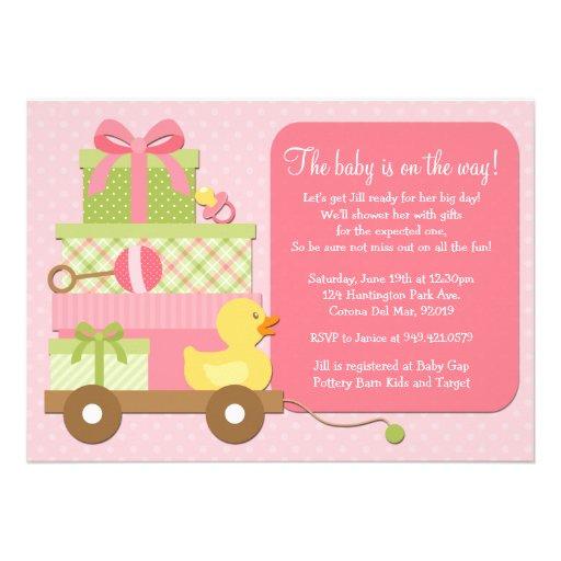 duck baby girl shower invitation 5 x 7 invitation card zazzle