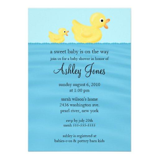 Duck Baby Shower Custom Announcements