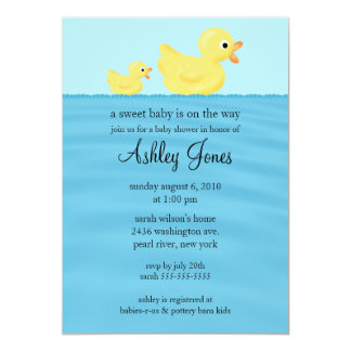 Duck Baby Shower Custom Announcements