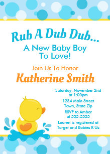Duck invitations zazzle duck baby shower invitation baby duck boy stopboris Image collections