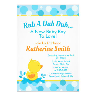Duck Baby Shower Invitation Baby Duck Boy