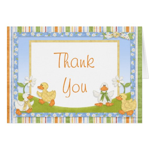 duck baby shower thank you greeting card zazzle