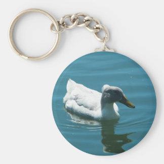 Duck Basic Round Button Keychain