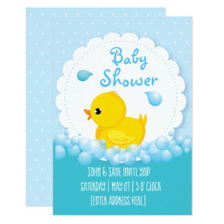 Duck Bath-time Baby Shower Invitations