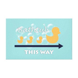 Duck Bathroom Wall Art - Canvas