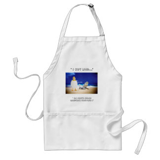 "duck beach good, "" I Got Laid..."", "" On South B... Adult Apron"
