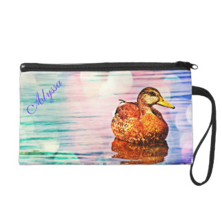 Duck Beauty Pastel Wristlet Clutch Bag