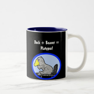 Duck + Beaver = Platypus! Coffee Mug