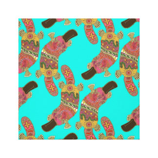 duck-billed platypus stretched canvas prints