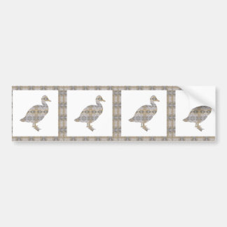 DUCK Bird CRYSTAL Jewel NVN455 KIDS LARGE fun gift Bumper Sticker