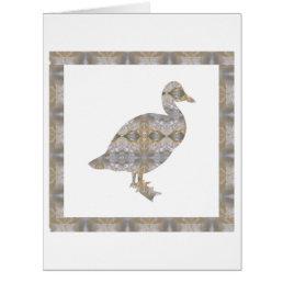 DUCK Bird CRYSTAL Jewel NVN455 KIDS LARGE fun gift Card