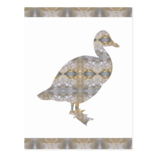 DUCK Bird CRYSTAL Jewel NVN455 KIDS LARGE fun gift Post Card