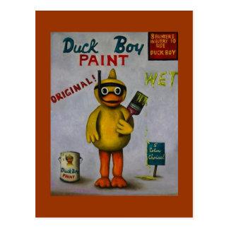 Duck Boy Paint Postcard
