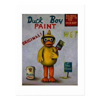 Duck boy postcard