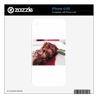 Duck breast on Sangiovese red wine sauce iPhone 4 Decal