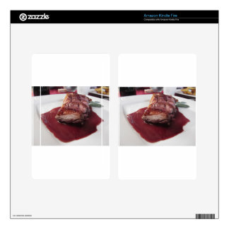 Duck breast on Sangiovese red wine sauce Kindle Fire Skins