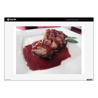 Duck breast on Sangiovese red wine sauce Laptop Decals