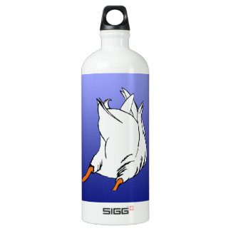 Duck Butt Postage Stamp Aluminum Water Bottle