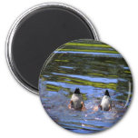Duck Butts 2 Inch Round Magnet