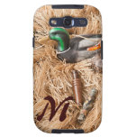 Duck Call Mallard Drake Monogram Samsung Galaxy S3 Galaxy SIII Cases
