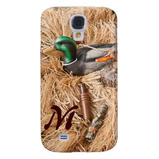 Duck Call Mallard Drake Monogram Samsung Galaxy S4 Samsung Galaxy S4 Cases