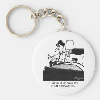 Duck Cartoon 2796 Keychain