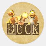 Duck! Classic Round Sticker