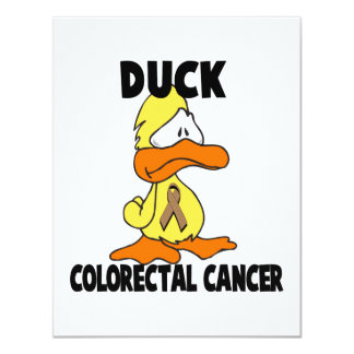 Duck Colorectal Cancer 4.25x5.5 Paper Invitation Card