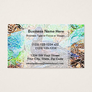 duck colored pencil look bird business card