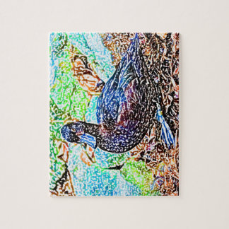 duck colored pencil look bird jigsaw puzzle