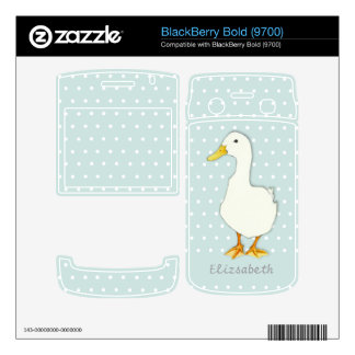 Duck Cool dots BlackBerry Bold (9700) Skin Skin For BlackBerry