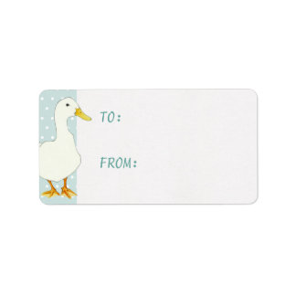 Duck Cool dots Gift Tag Sticker