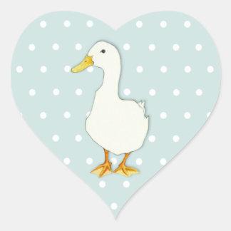 Duck Cool dots Heart Sticker