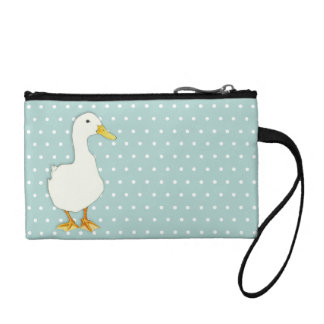 Duck Cool dots Key Coin Clutch Bag