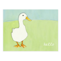 Duck Cool Hello Postcard