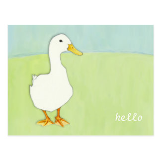 Duck Cool Hello Postcard