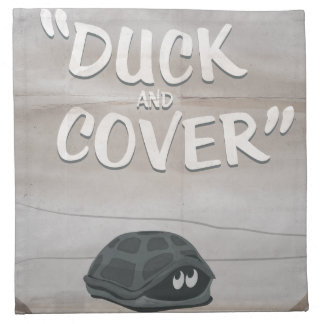 Duck & Cover Cloth Napkin