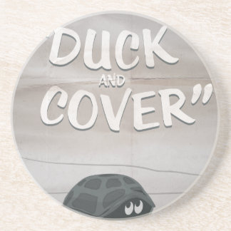 Duck & Cover Drink Coaster