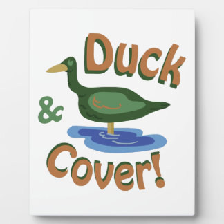 Duck & Cover! Display Plaque