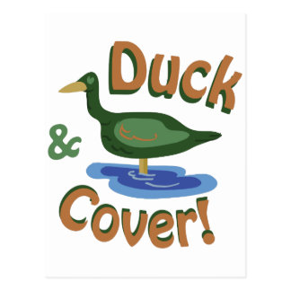 Duck & Cover! Postcard