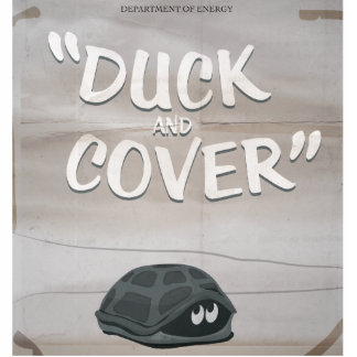 Duck & Cover Statuette