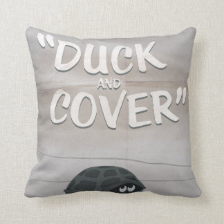 Duck & Cover Throw Pillow