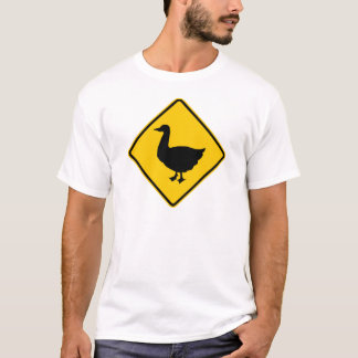 Duck Crossing Highway Sign T-Shirt