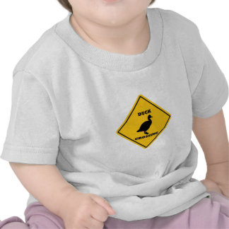 Duck Crossing Street Sign Tshirts