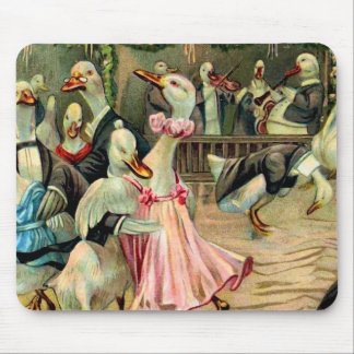 Duck Dancing in a Nightclub Mouse Pad