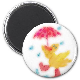 Duck Dancing in the Rain Magnet