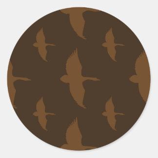 Duck Dark Pattern Round Sticker