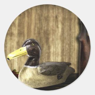 Duck Decoy Classic Round Sticker