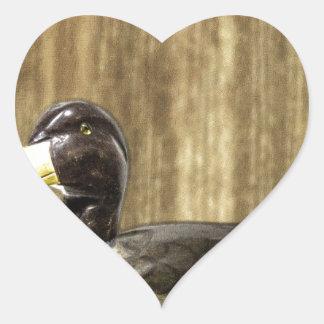 Duck Decoy Heart Sticker
